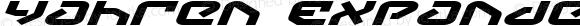 Yahren Expanded Italic Expanded Italic