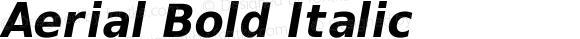 Aerial Bold Italic