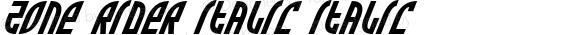 Zone Rider Italic Italic 2