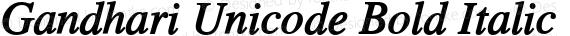 Gandhari Unicode Bold Italic preview image