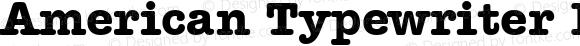 American Typewriter Bold BT Bold mfgpctt-v1.53 Friday, January 29, 1993 12:02:54 pm (EST)