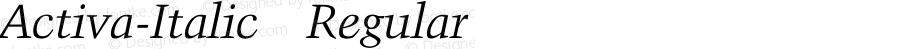 Activa-Italic Regular Unknown