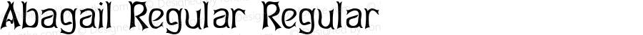 Abagail Regular Regular Altsys Fontographer 3.5  9/20/92