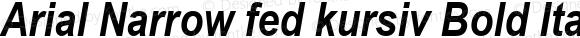 Arial Narrow fed kursiv Bold Italic Version 2.20