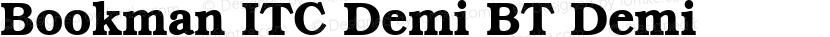 Bookman ITC Demi BT Demi Preview Image