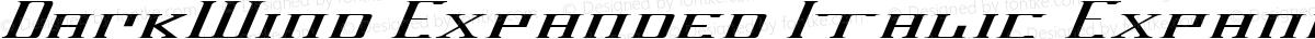 DarkWind Expanded Italic Expanded Italic