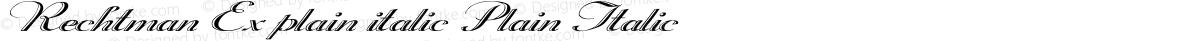 Rechtman Ex plain italic Plain Italic