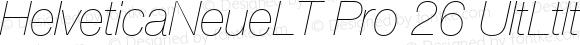 HelveticaNeueLT Pro 26 UltLtIt Regular Version 1.000;PS 001.000;Core 1.0.38