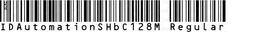 IDAutomationSHbC128M Regular Version 3.07 2003