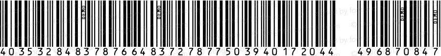 IDAutomationSHI25M Regular OTF 3.700;PS 003.007;Core 1.0.34