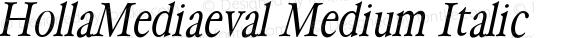 HollaMediaeval Medium Italic