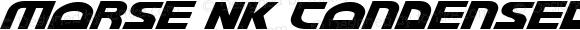 Morse NK Condensed Italic Condensed Italic