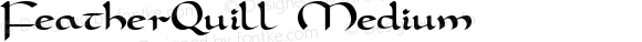 FeatherQuill Medium Macromedia Fontographer 4.1.4 1/12/97