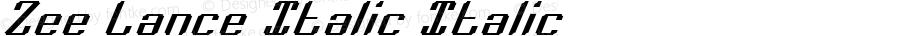 Zee Lance Italic Italic 2