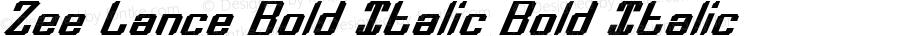 Zee Lance Bold Italic Bold Italic 2