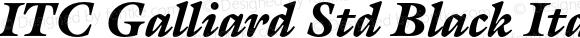 ITC Galliard Std Black Italic OTF 1.018;PS 001.001;Core 1.0.31;makeotf.lib1.4.1585