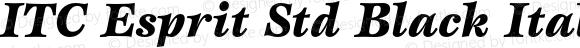 ITC Esprit Std Black Italic OTF 1.018;PS 001.000;Core 1.0.31;makeotf.lib1.4.1585