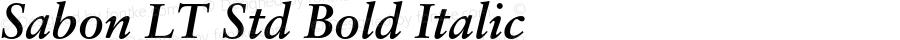 Sabon LT Std Bold Italic Version 1.040;PS 001.001;Core 1.0.35;makeotf.lib1.5.4492