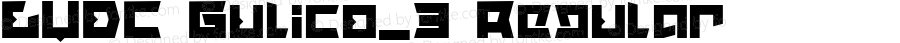 LVDC Gulico_3 Regular Macromedia Fontographer 4.1J 04.1.25