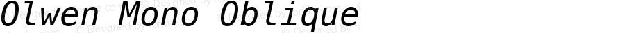 Olwen Mono Oblique 0.1