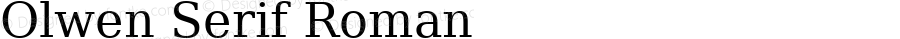 Olwen Serif Roman 0.1