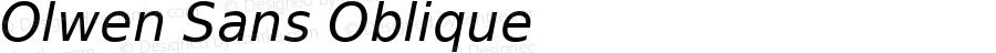 Olwen Sans Oblique 0.1