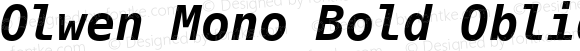 Olwen Mono Bold Oblique