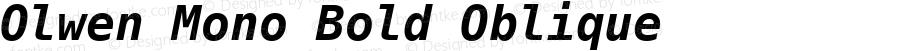Olwen Mono Bold Oblique 0.1