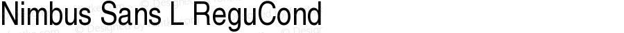 Nimbus Sans L ReguCond Version 1.06