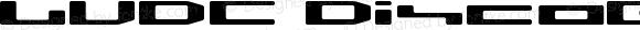 LVDC Disco02 Regular Macromedia Fontographer 4.1J 04.1.29