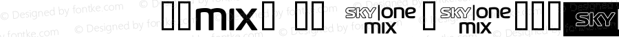 SKYfontone Regular Macromedia Fontographer 4.1 18/01/2003