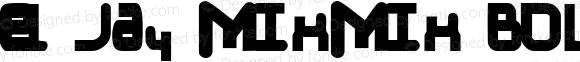 el Jay mixmix Bold Macromedia Fontographer 4.1 4/2/00