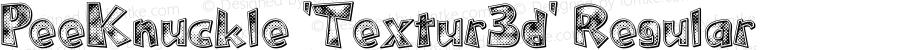 PeeKnuckle 'Textur3d' Regular 1.0; 2-13-2004