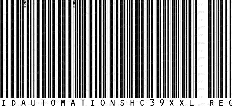 IDAutomationSHC39XXL Regular Version 3.71 2003