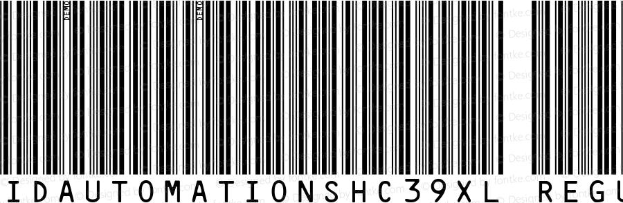 IDAutomationSHC39XL Regular Version 3.71 2003