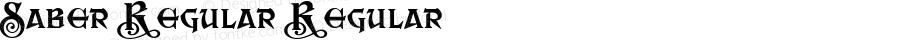 Saber Regular Regular Macromedia Fontographer 4.1 23.08.2003