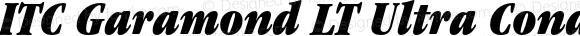 ITC Garamond LT Ultra Condensed Italic