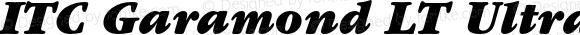 ITC Garamond LT Ultra Italic