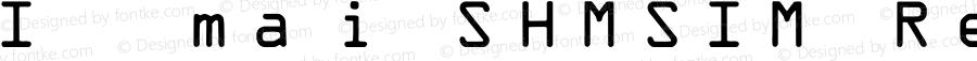 IDAutomationSHMSIM Regular OTF 3.710;PS 003.071;Core 1.0.34