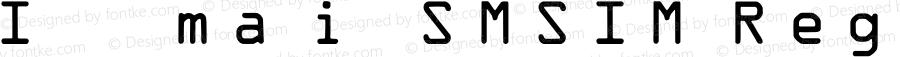IDAutomationSMSIM Regular OTF 3.710;PS 003.071;Core 1.0.34