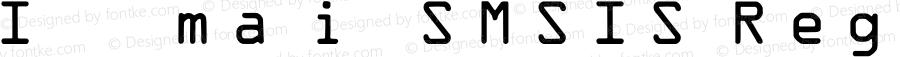 IDAutomationSMSIS Regular OTF 3.710;PS 003.071;Core 1.0.34