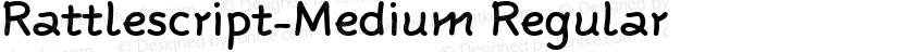 Rattlescript-Medium Regular Preview Image