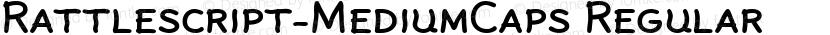 Rattlescript-MediumCaps Regular Preview Image