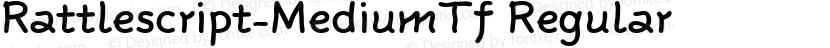 Rattlescript-MediumTf Regular Preview Image