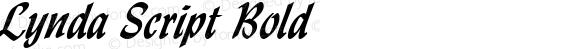 Lynda Script Bold Altsys Fontographer 4.1 1/8/95