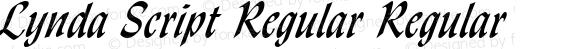 Lynda Script Regular Regular Altsys Fontographer 4.1 1/8/95