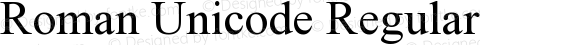 Roman Unicode Regular