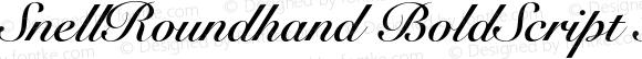 SnellRoundhand BoldScript Italic OTF 1.0;PS 001.001;Core 1.0.22