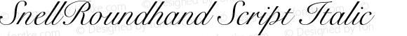 SnellRoundhand Script Italic OTF 1.0;PS 001.001;Core 1.0.22