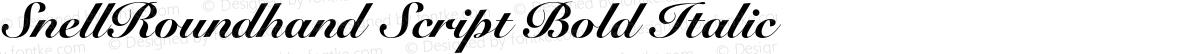 SnellRoundhand Script Bold Italic